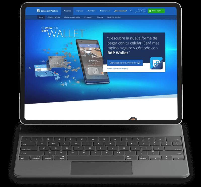 Banco del Pacífico web por Image Tech